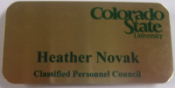 CSU-Classified Personnel Council Name Tags(Brass with Color Print)