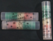 Christmas Lip Balm(Layered Green-Red-White)