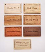 Engraved Wood Species Options