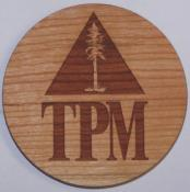 Custom Wooden Coasters(TPM Logo)