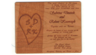 Wood Wedding Invitations, Gifts, & More