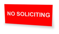 No Soliciting Signs Custom