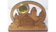 Engraved Wooden Desktop Clocks