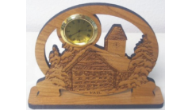 Engraved Wooden Desktop Clocks
