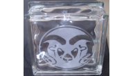 Engraved CSU Glass Block Vases & Banks