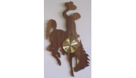 Engraved Wooden Wall Clocks