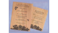 Wood Veneer Reply Cards