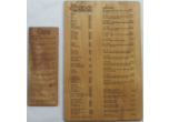 Wood Menus Laser Engraved