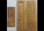 Wood Menus Laser Engraved
