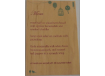 Wood Veneer Menus Color Printed