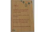 Wood Veneer Menus Color Printed