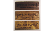 Recycled Blue Pine Wood & Rustic Engraved Signs