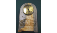 Green Wooden Clocks