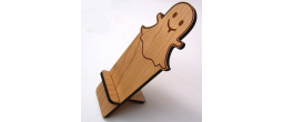 CELLPHONE-GHOST - Wooden Cell Phone Holder (Snap-chat)