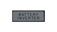 ELECTRICAL-BATTERY INVERTER - Battery Inverter Electrical Plate Sample (1x3 Inches)