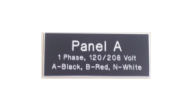ELECTRICAL-BLACK - Panel A Electrical Plate (1x3 Black Sample)