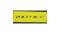 ELECTRICAL-YELLOW UPS - UPS Batttery Shut Off Electrical Plate Sample (1x3 Inches)
