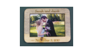 Offering custom wedding favor magnets. Our laser engraved cherry wood magnet favors make unique gifts and mementos.