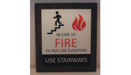 SIGN-ALUMINUM-FIRE - Aluminum In Case of Fire(6x8 on Silver)
