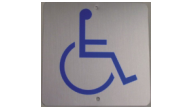 SIGN-ALUMINUM-HANDICAP - Aluminum Handicap Sign(4x4 blue on Silver)