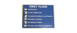 SIGN-DIRECTIONAL - Large Blue Directional Sign (24 x 18 Inches)