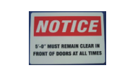 "SIGN-NOTICE - Notice Warning Sign(10""x12"")"