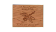 URN-WOOD PLAQUE - Custom Engraved Wood Plates