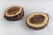Bark Wood Coasters