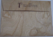 Wooden Envelopes