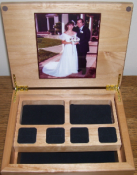 Offering Custom Engraved Jewelry Gift Boxes for as low as $13.50 in volume. Photos and engraving can be incorporated into the personalization.
