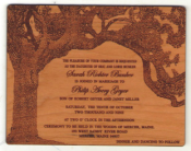 Real Wood Invitations