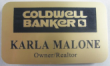Offering Coldwell Banker real estate name id badges.  Our engraved and color printed name tags are professional but priced economically.