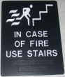 Offering ADA fire stairwell signage.  Our braille signage can come in any size and color.