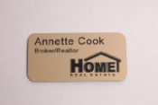 Offering Home Real Estate magnetic name badge!  Engraved custom ID badges at the lowest prices on the internet!