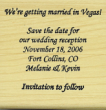 Offering save the date custom art rubber stamps.  Our customized save the date craft stamps are perfect for scrapbooking or wedding invitations.